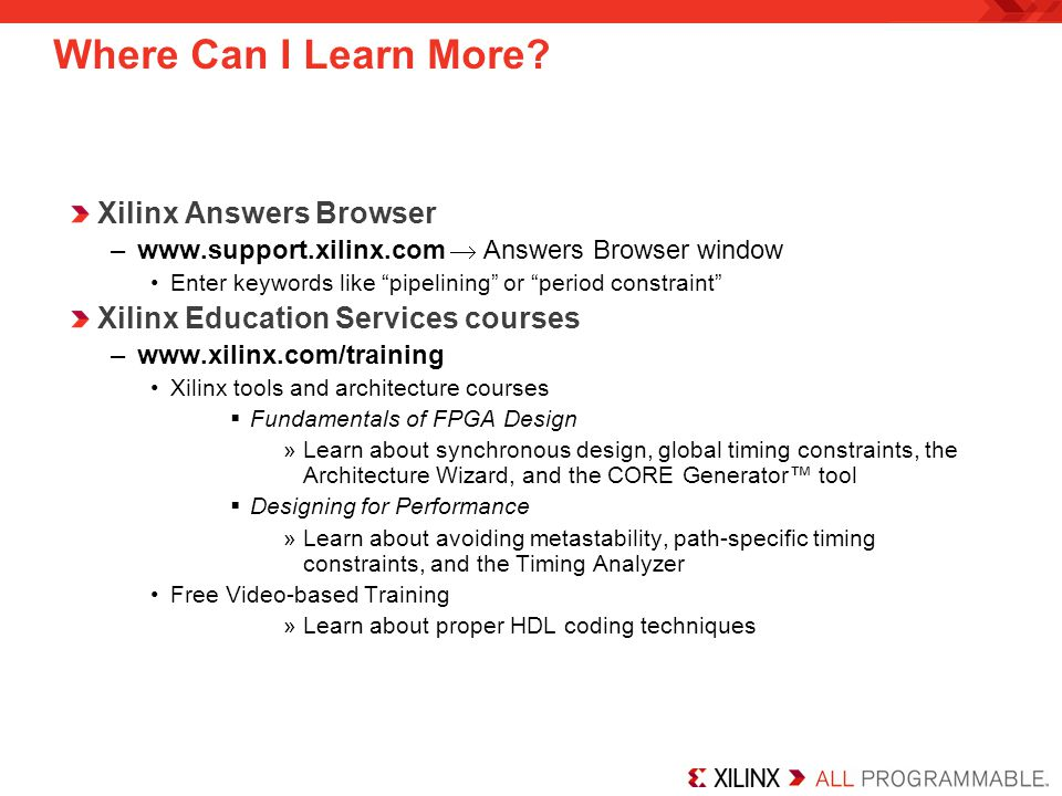 Where Can I Learn More Xilinx Answers Browser