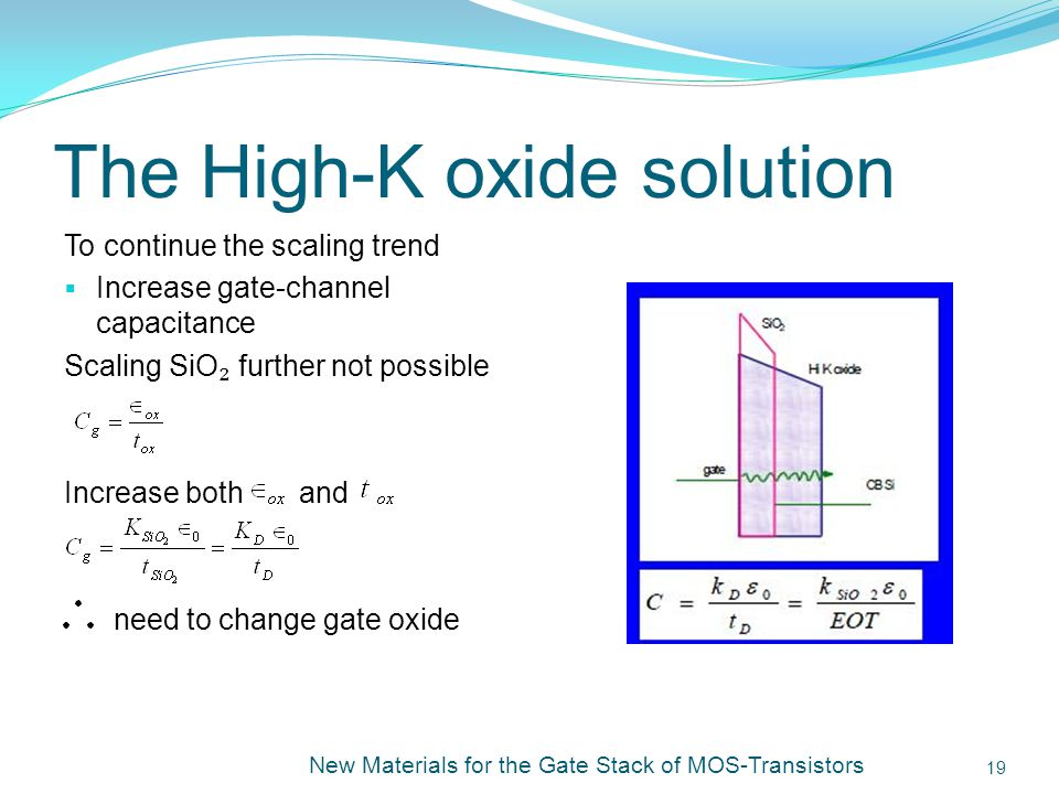 The High-K oxide solution