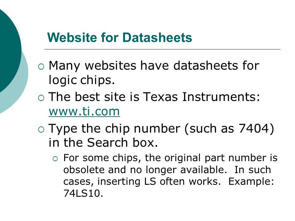 Website for Datasheets