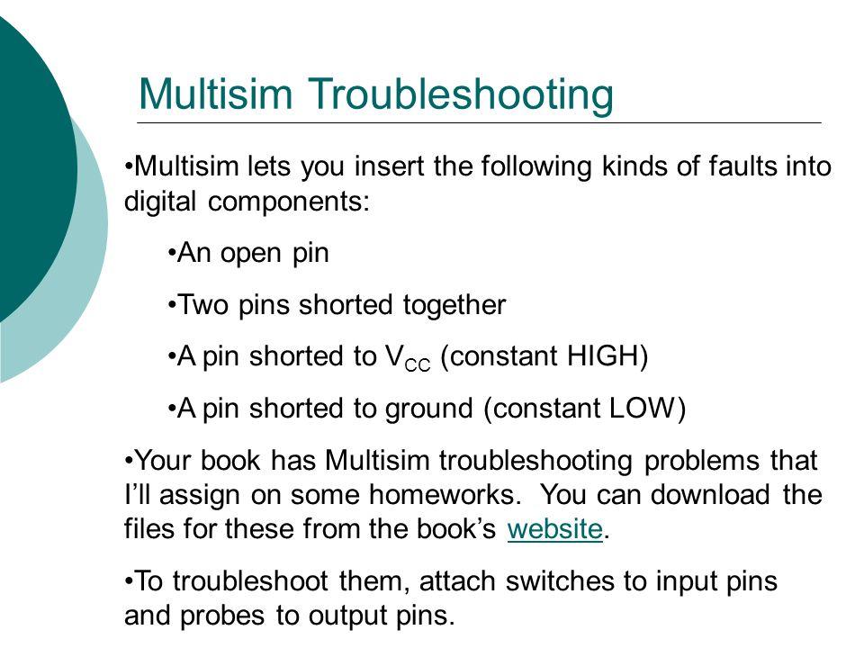 Multisim Troubleshooting