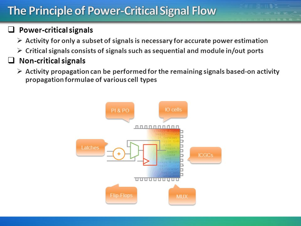 The Principle of Power-Critical Signal Flow