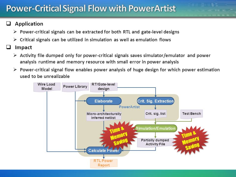 Power-Critical Signal Flow with PowerArtist
