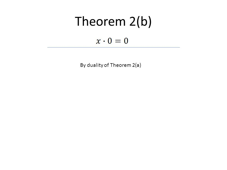 By duality of Theorem 2(a)