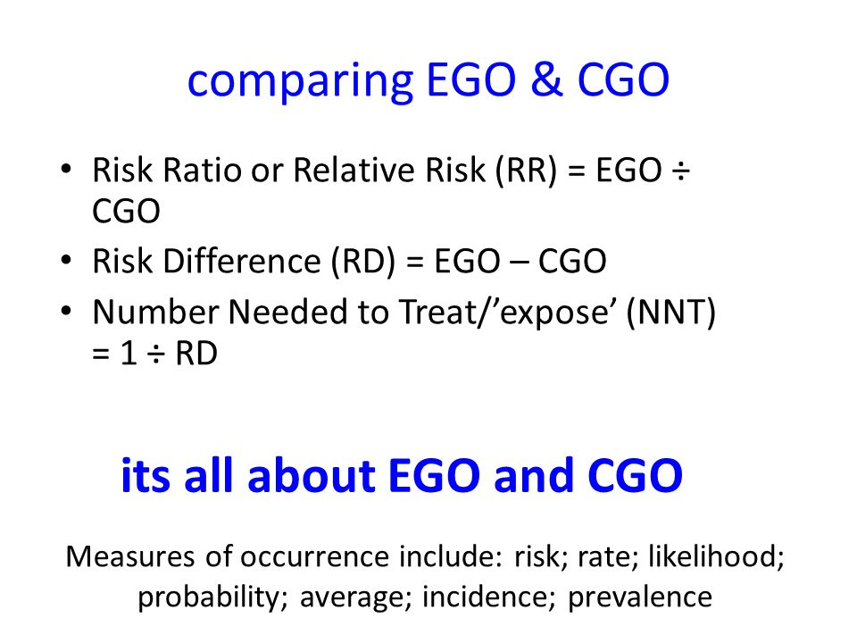 its all about EGO and CGO