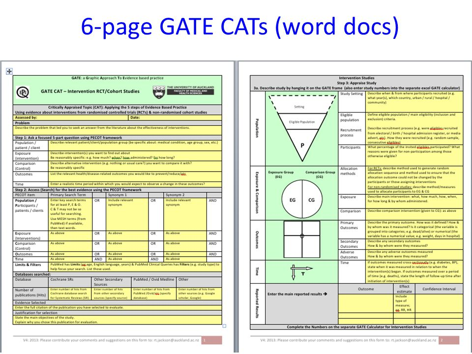 6-page GATE CATs (word docs)