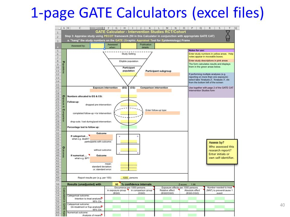 1-page GATE Calculators (excel files)