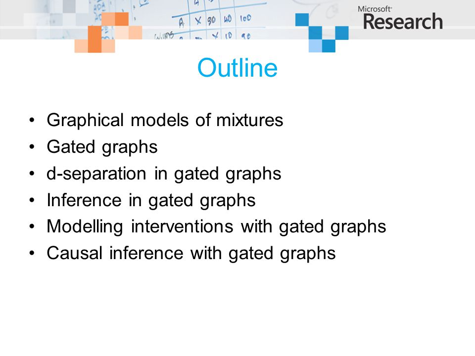 Outline Graphical models of mixtures Gated graphs