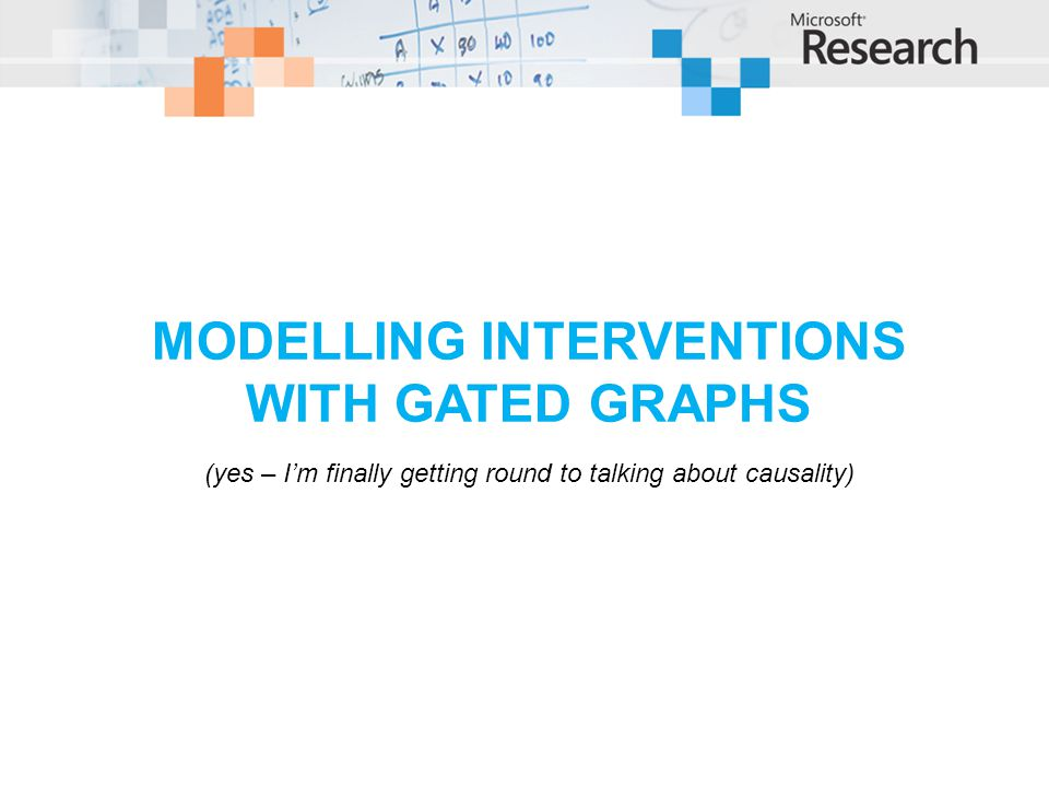 Modelling Interventions with gated graphs