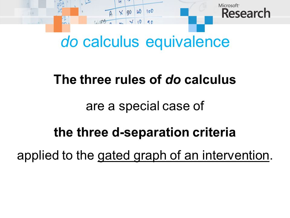 do calculus equivalence