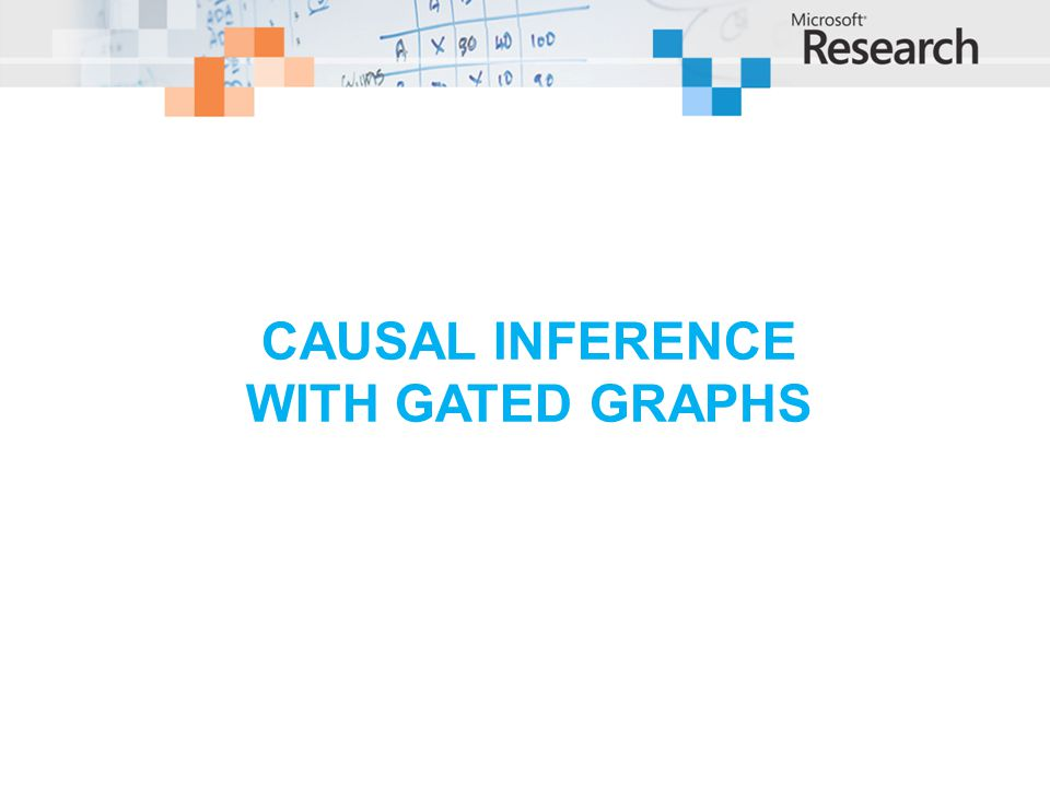 Causal inference with gated graphs
