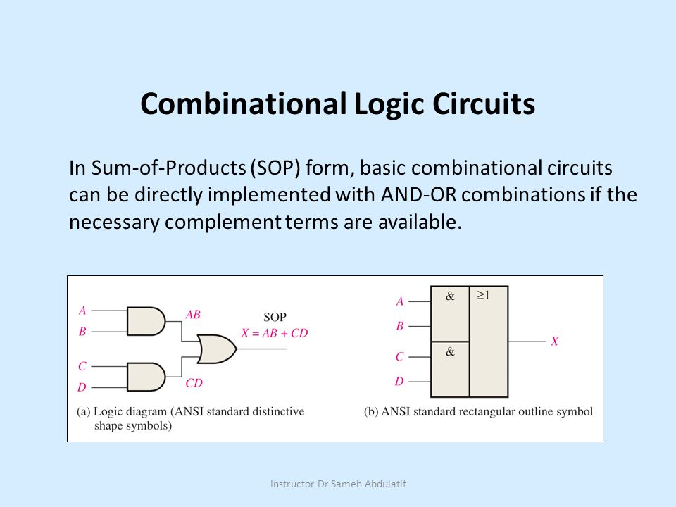 Combinational Logic Circuits