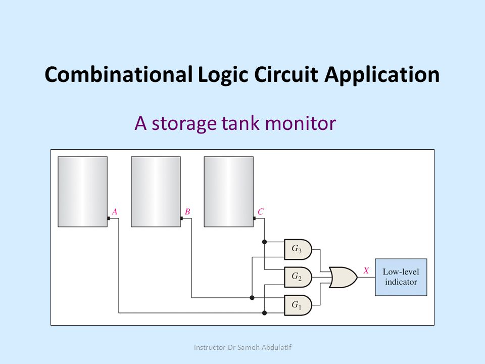 Combinational Logic Circuit Application