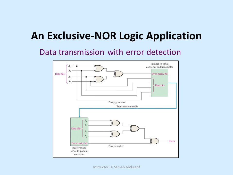 An Exclusive-NOR Logic Application