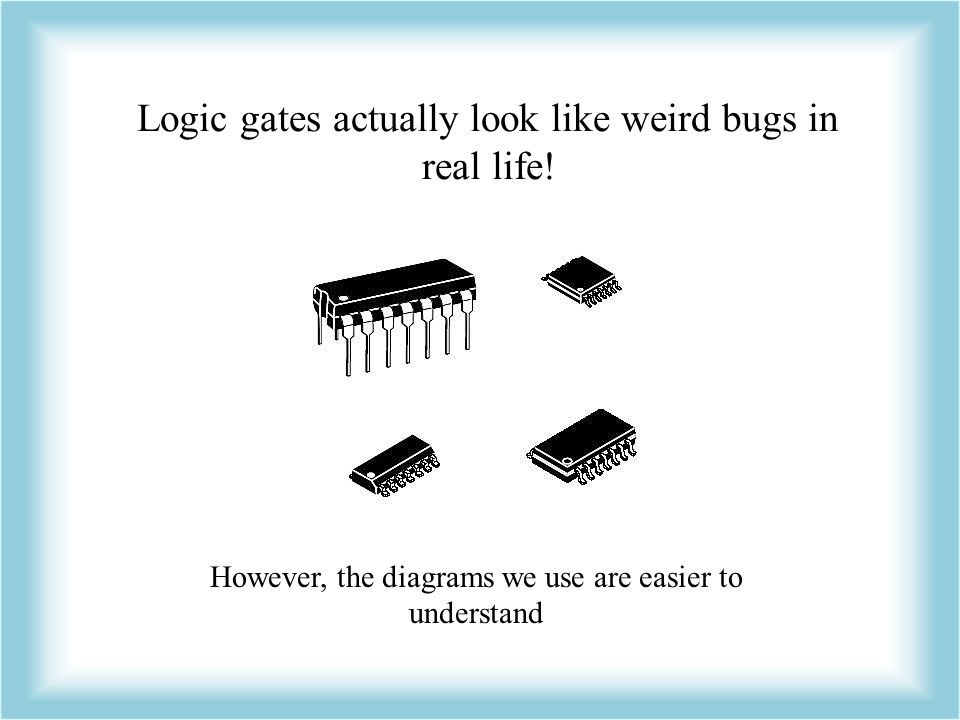 Logic gates actually look like weird bugs in real life!