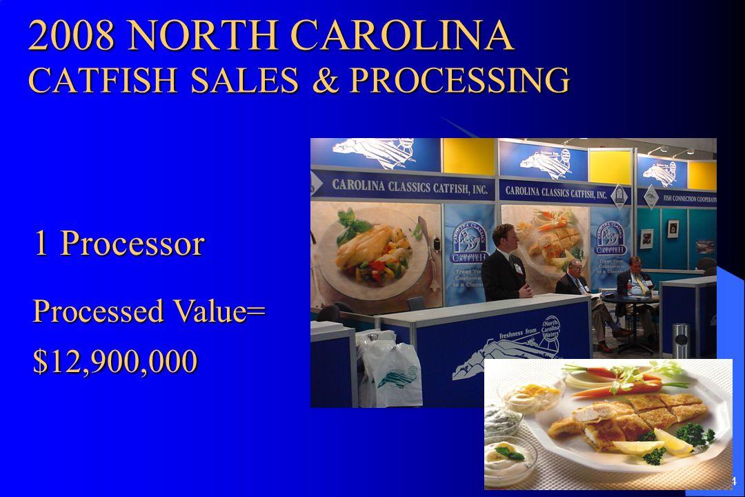 2008 NORTH CAROLINA CATFISH SALES & PROCESSING
