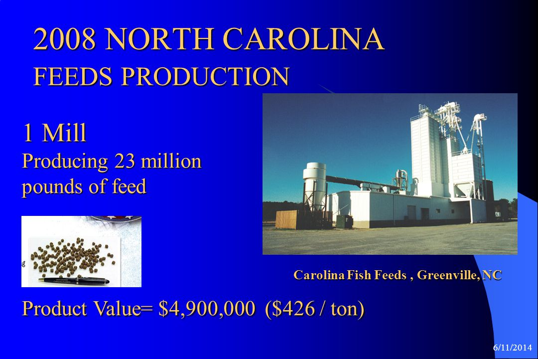 2008 NORTH CAROLINA FEEDS PRODUCTION