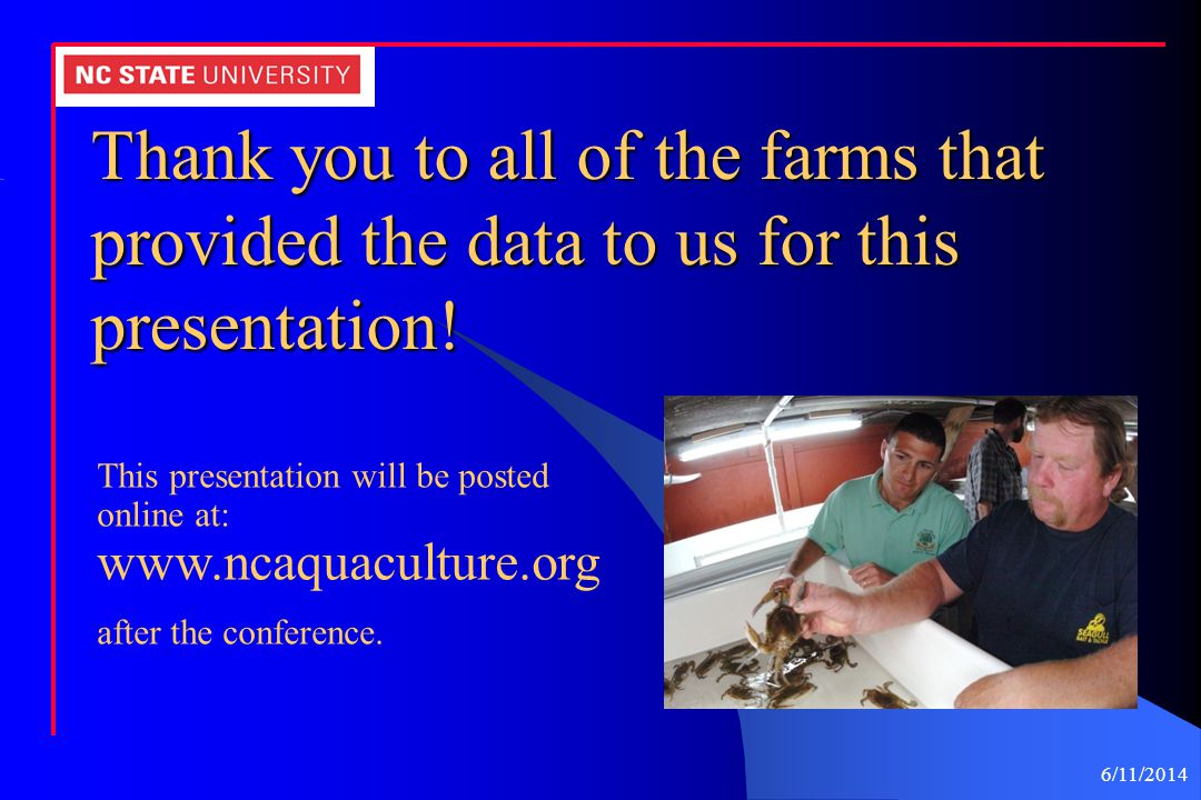 Thank you to all of the farms that provided the data to us for this presentation!