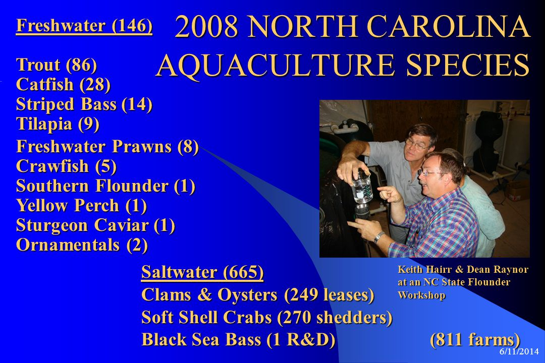 2008 NORTH CAROLINA AQUACULTURE SPECIES