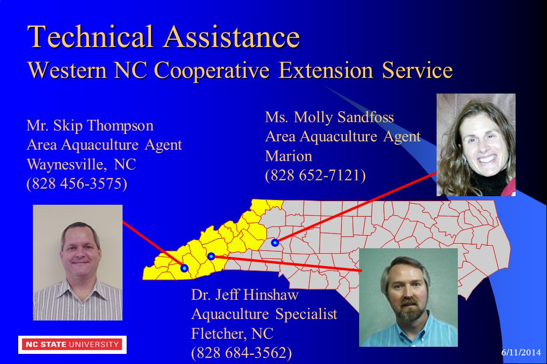 Technical Assistance Western NC Cooperative Extension Service