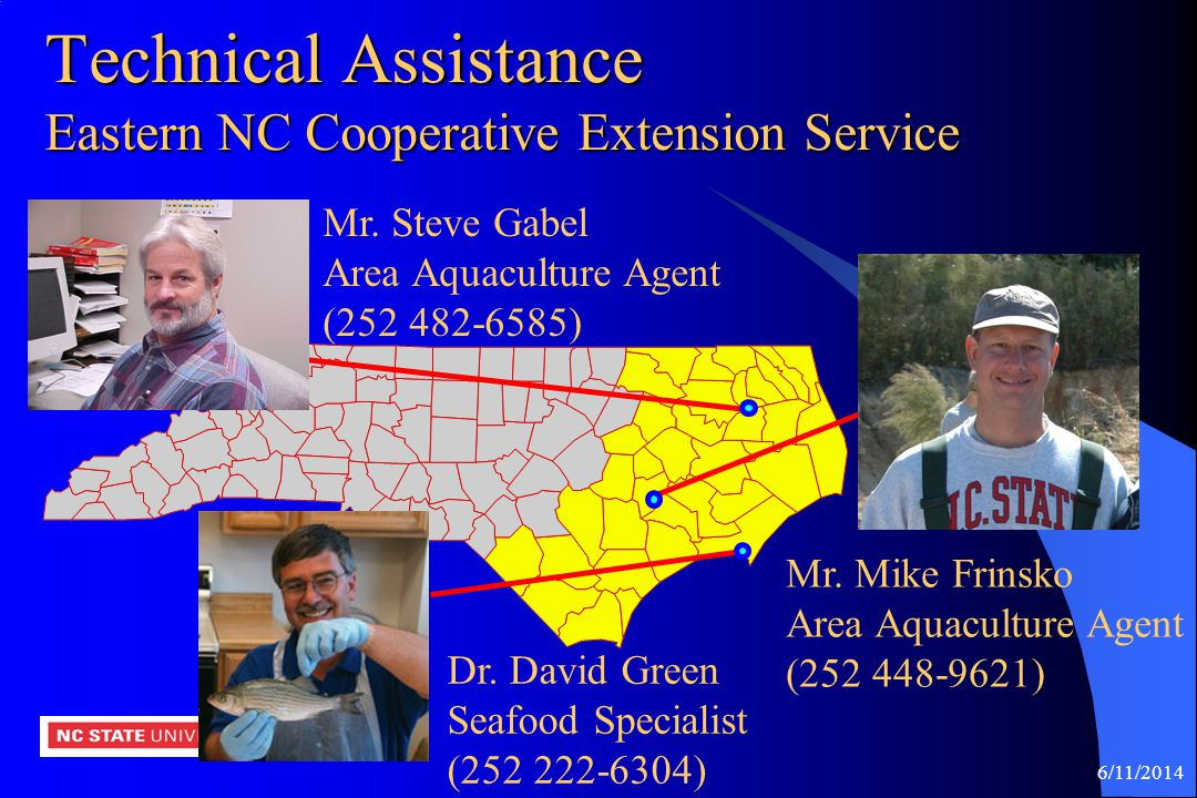 Technical Assistance Eastern NC Cooperative Extension Service