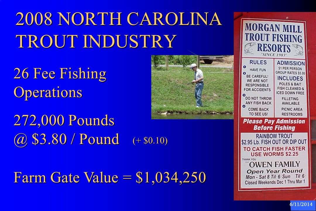 2008 NORTH CAROLINA TROUT INDUSTRY