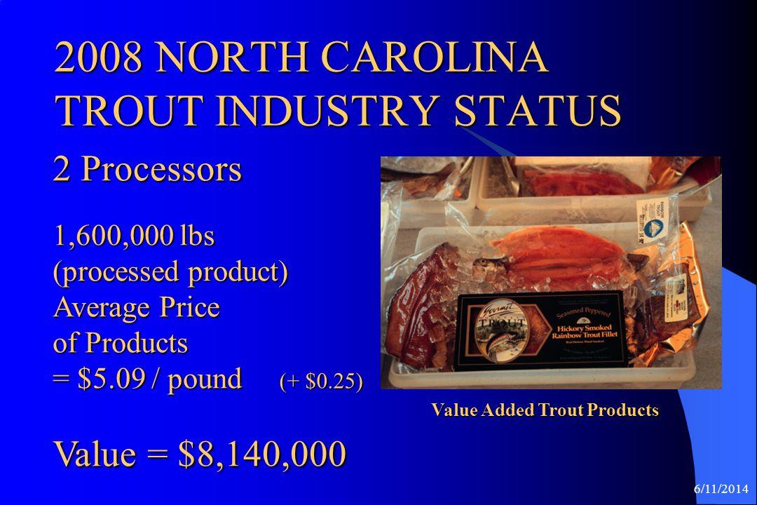 2008 NORTH CAROLINA TROUT INDUSTRY STATUS