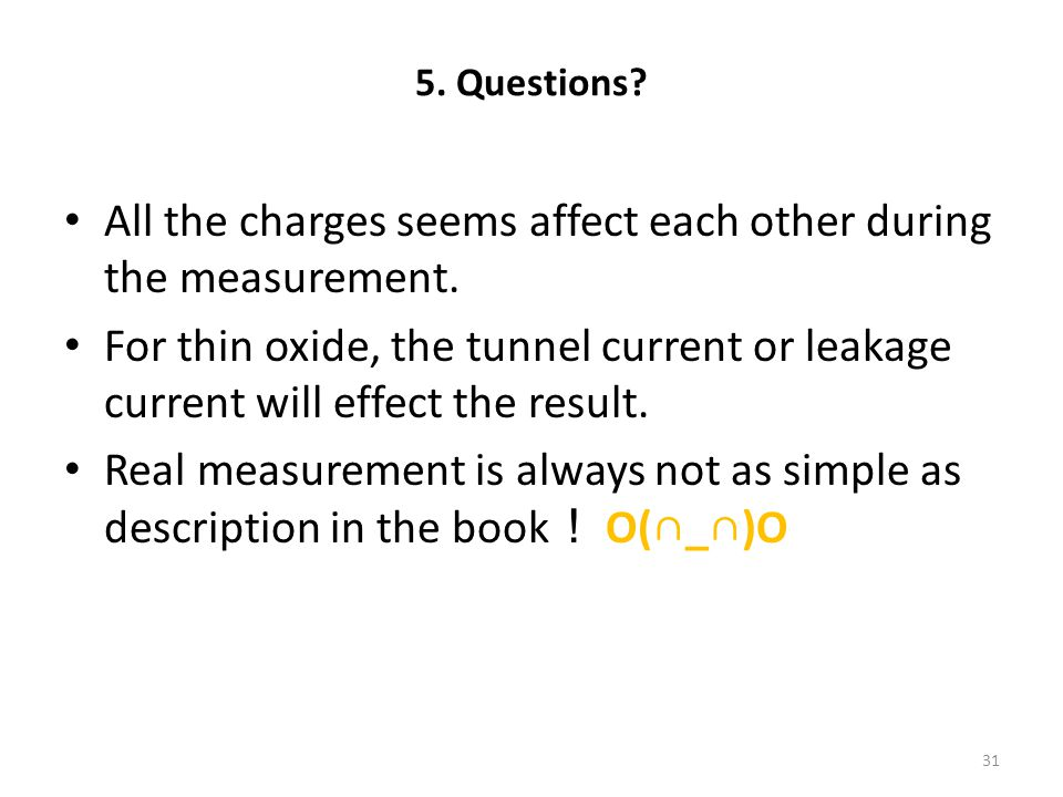 All the charges seems affect each other during the measurement.