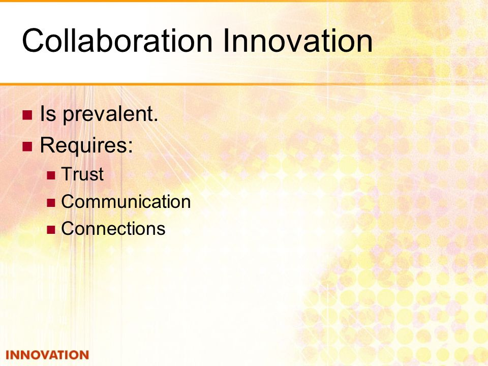 Collaboration Innovation