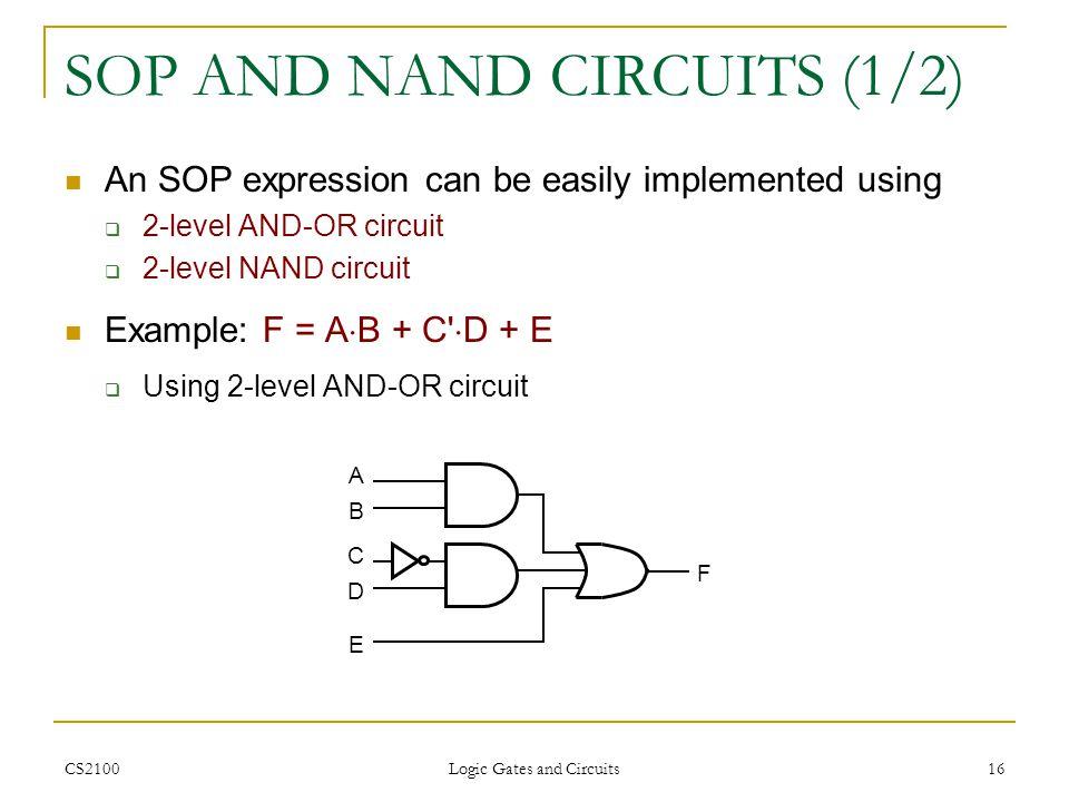 SOP AND NAND CIRCUITS (1/2)