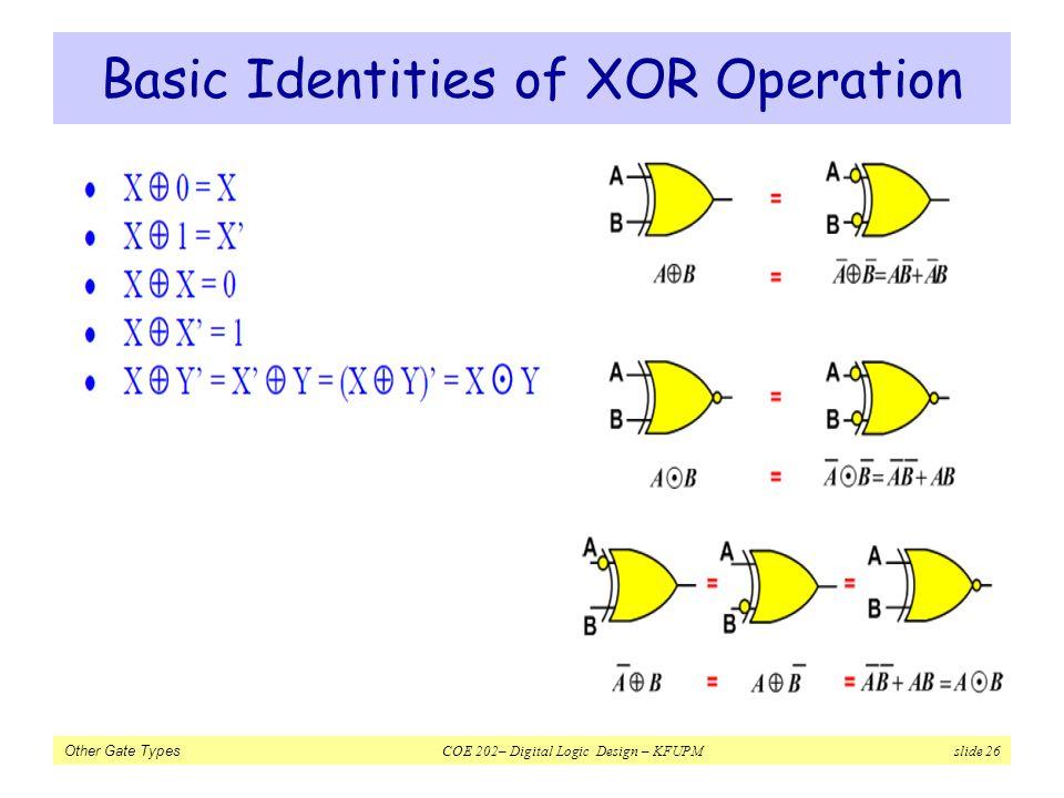 Basic Identities of XOR Operation