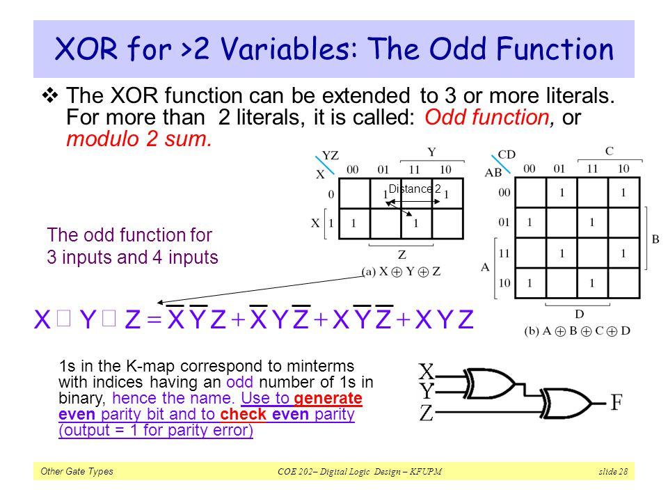XOR for >2 Variables: The Odd Function