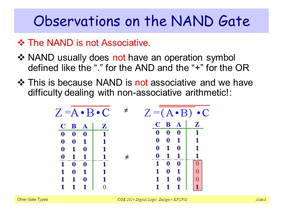 Observations on the NAND Gate