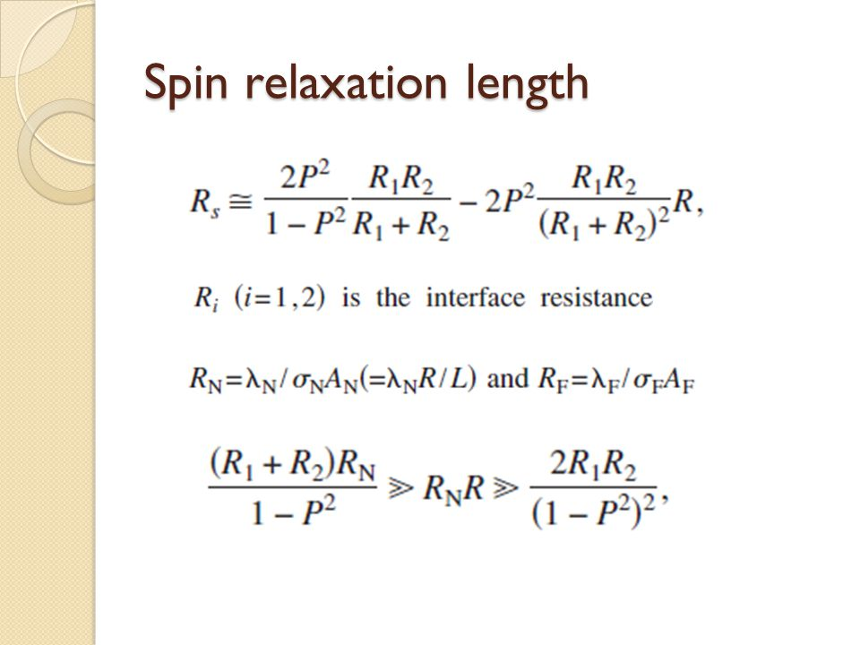 Spin relaxation length