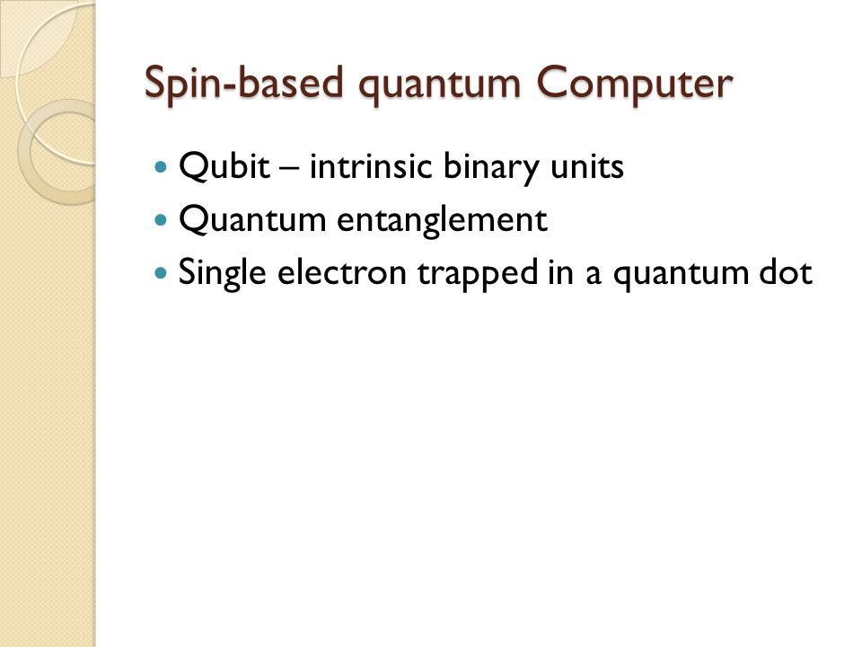 Spin-based quantum Computer