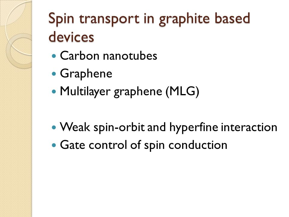Spin transport in graphite based devices