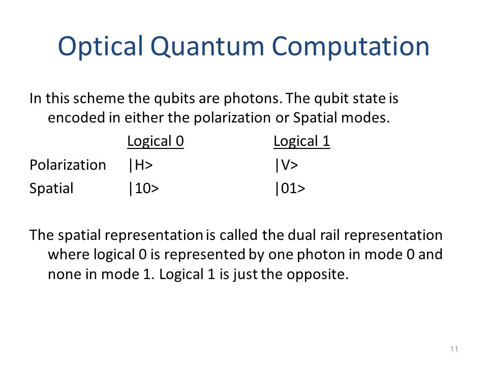 Optical Quantum Computation