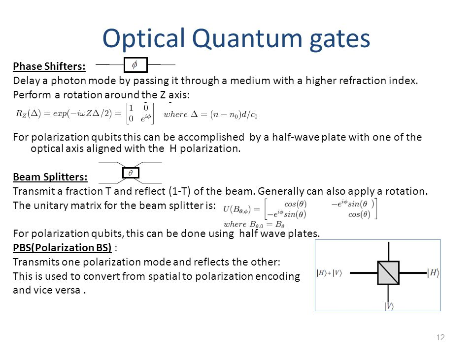 Optical Quantum gates