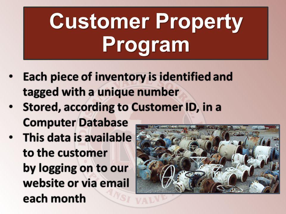 Customer Property Program