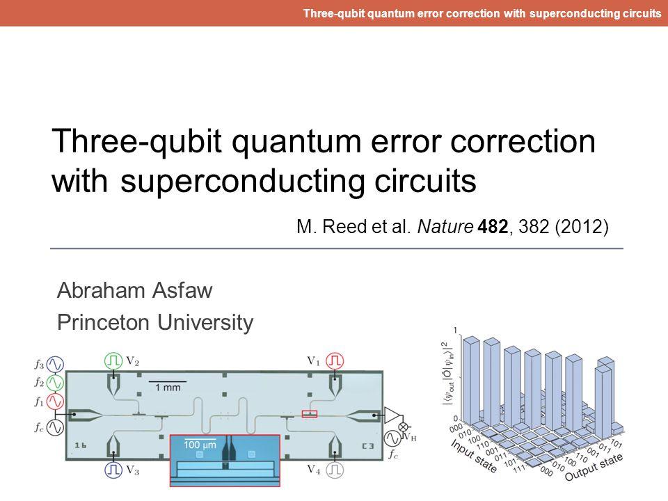 Three-qubit quantum error correction with superconducting circuits