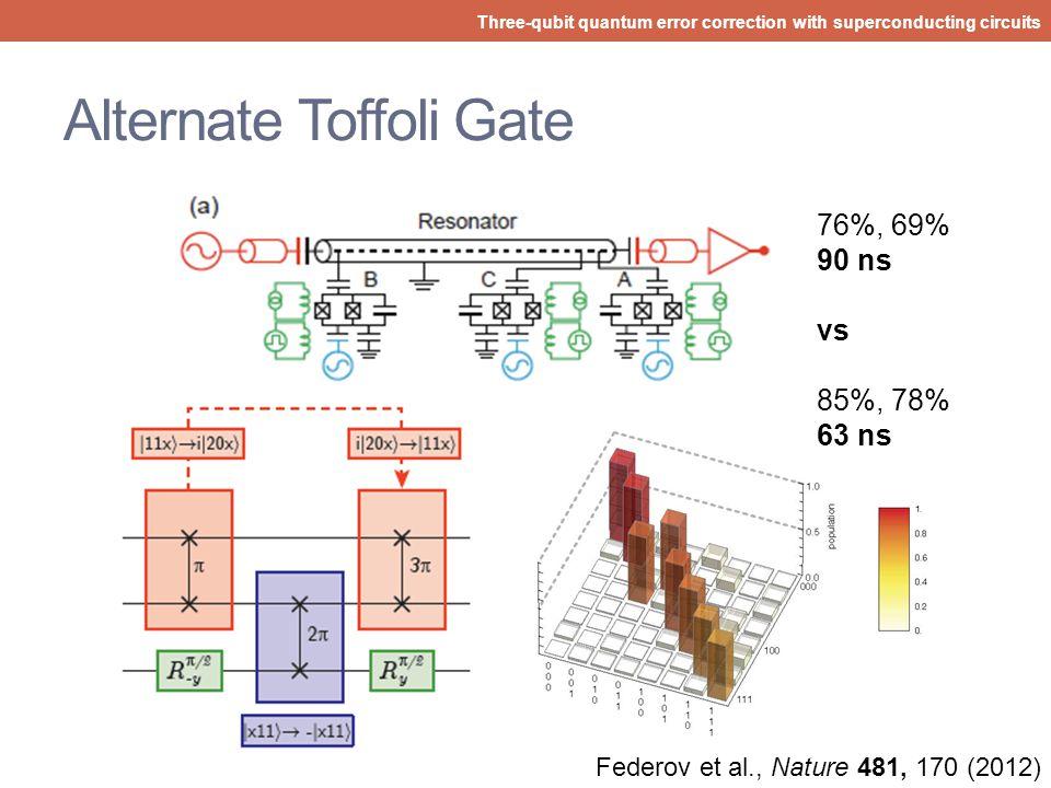 Alternate Toffoli Gate