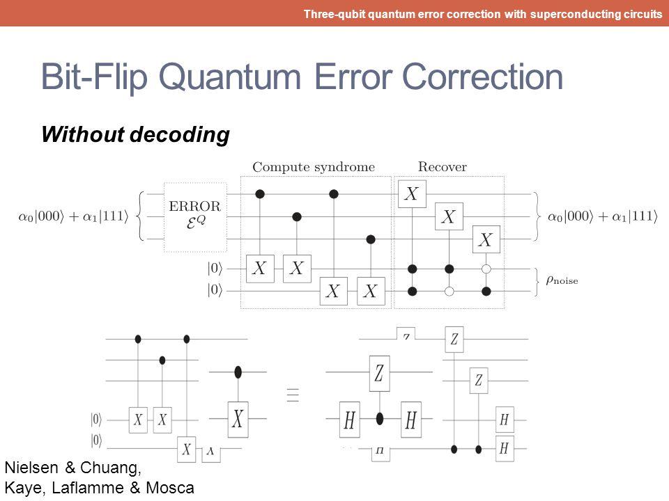 Bit-Flip Quantum Error Correction