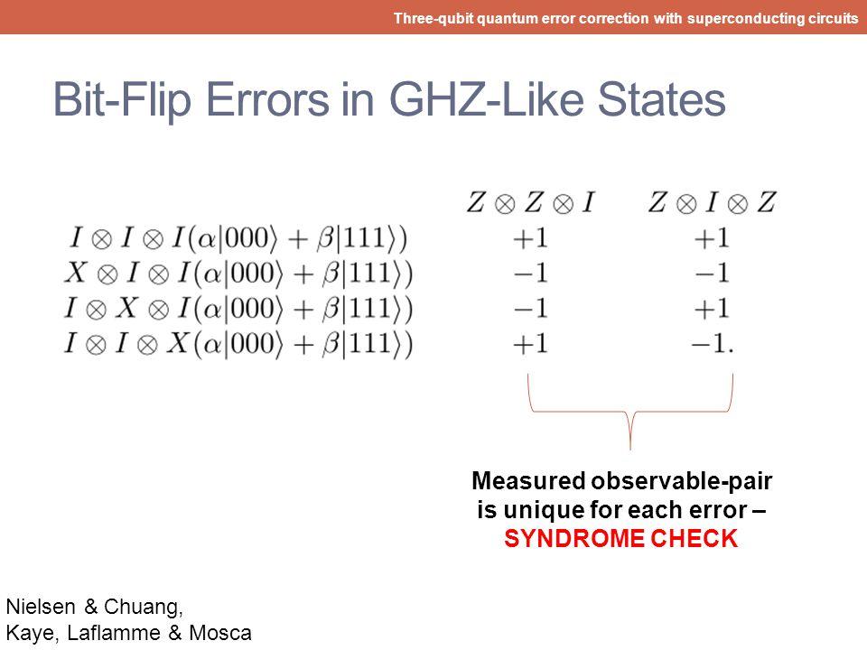 Bit-Flip Errors in GHZ-Like States