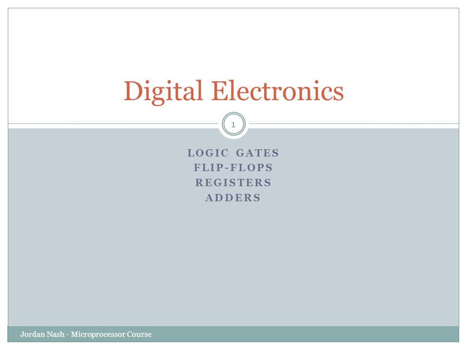 Logic Gates Flip-Flops Registers Adders
