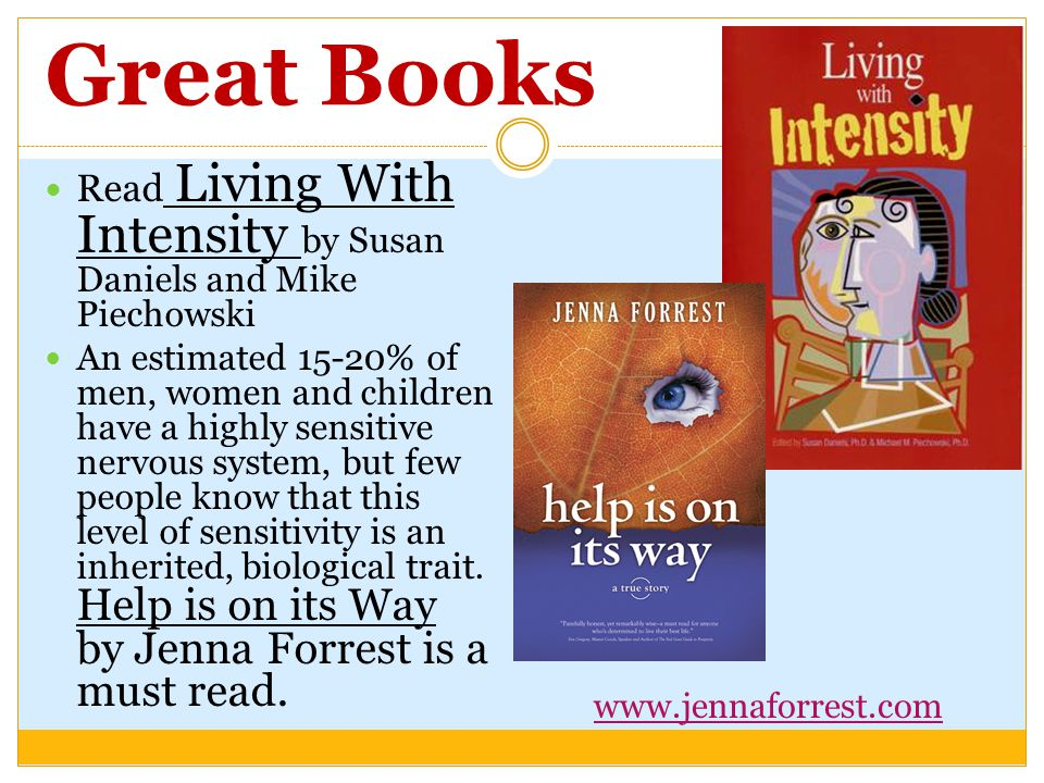 Great Books Read Living With Intensity by Susan Daniels and Mike Piechowski.