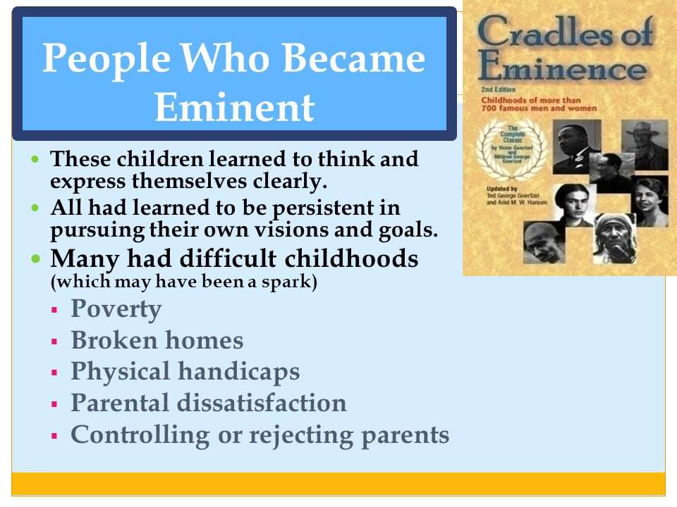 People Who Became Eminent