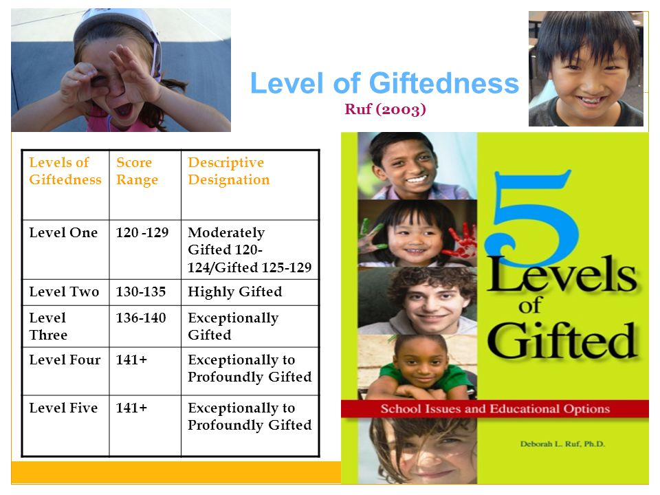 Level of Giftedness Ruf (2003)