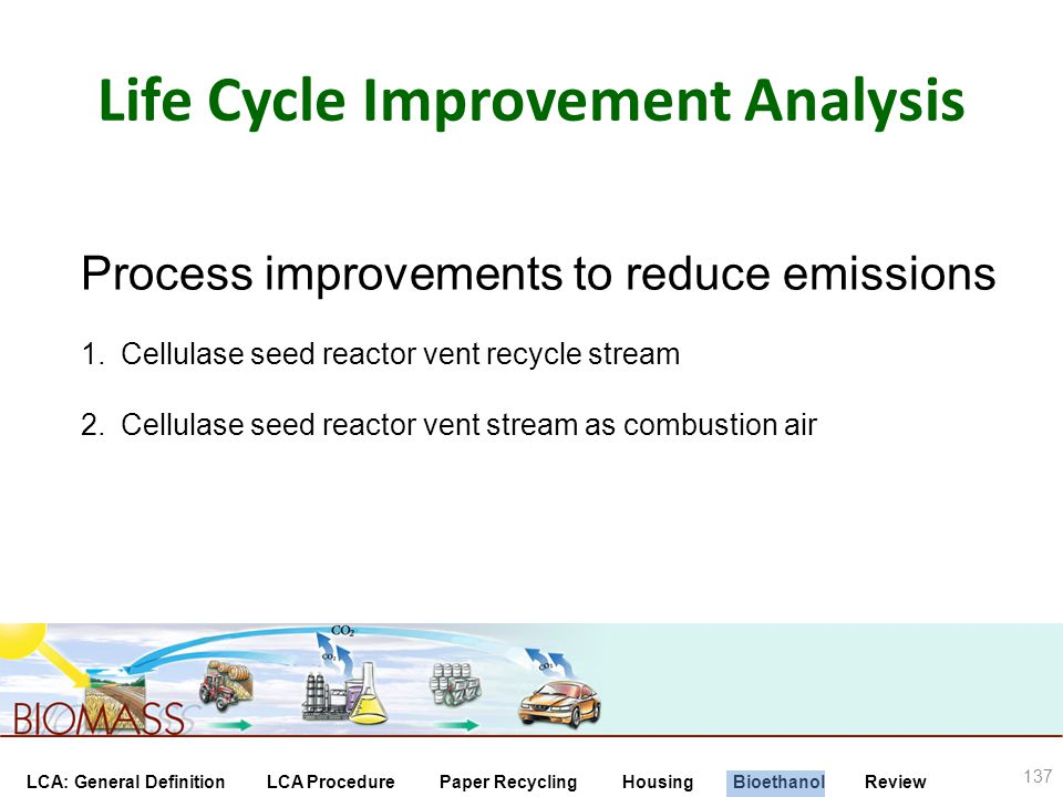 Life Cycle Improvement Analysis