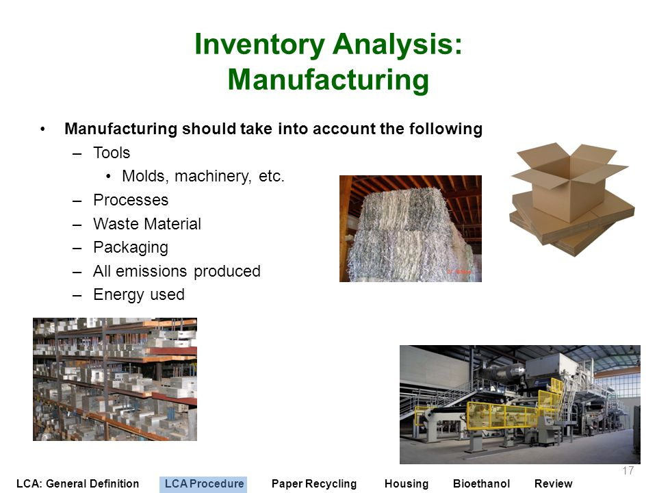 Inventory Analysis: Manufacturing