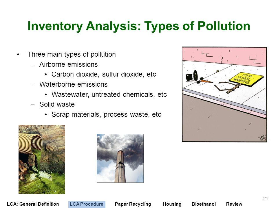 Inventory Analysis: Types of Pollution