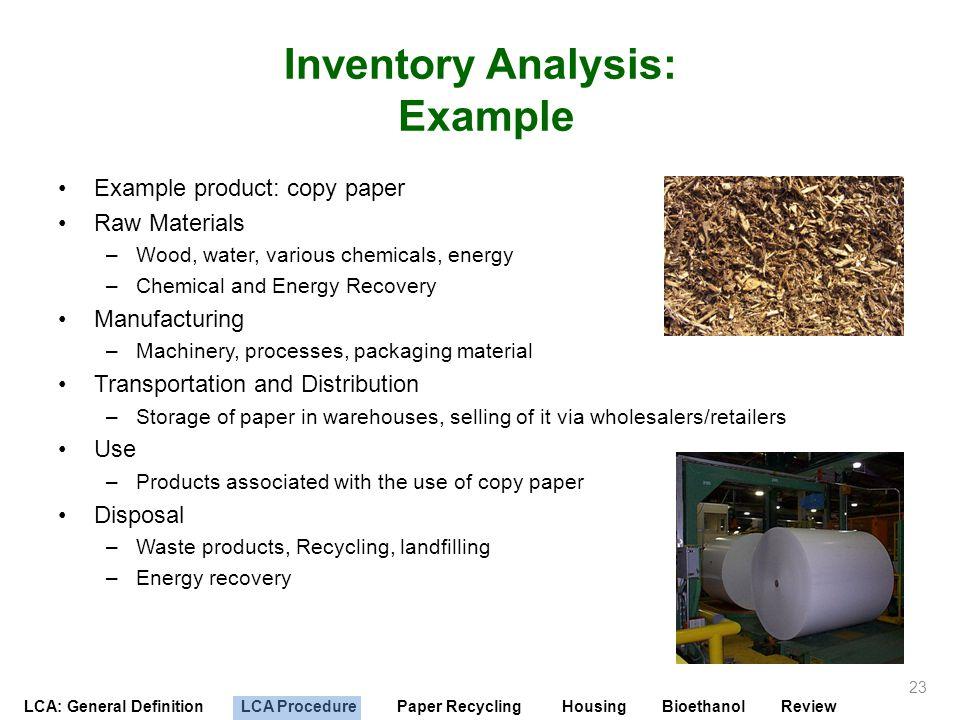 Inventory Analysis: Example